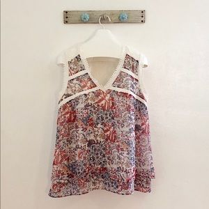 Anthropologie Maeve XL Floral Boho Blouse Tunic